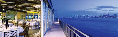 host and event at sunset terrace chelsea piers nyc