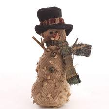 primitive plush snowman ornament ornaments