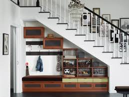 valuable staircase with cabinet design on tikspor
