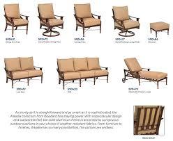 Woodard Cortland Cushion Patio Furniture - woodard arkadia collection u2014 fleet plummer gracious living