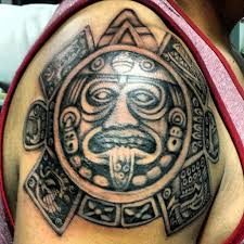 culture aztec tattoo on shoulder for men tribal tattoos aztec