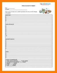 Printable Thanksgiving Potluck Sign Up Sheet Template 8 Potluck Signup Sheet Xavierax