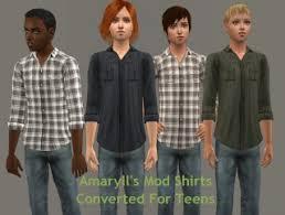 Liana Sims 2 Preview Women S Clothing Swimwear Amaryll U0027s Mod Shirts Converted For Teens Kalynn U0027s Sim Odds And