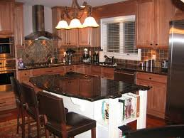 travertine countertops kitchen island with seating for 6 lighting