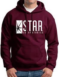 amazon com star labs sweatshirt hoodie clothing