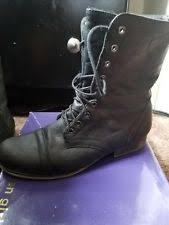 womens black combat boots size 11 flat 0 to 1 2 in s size 11 combat boots ebay