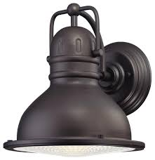 Oil Rubbed Bronze Sconces Westinghouse 8 5w Oil Rubbed Bronze Led Outdoor Wall Lantern