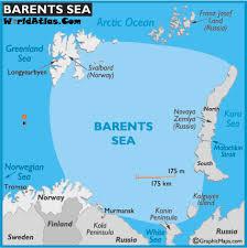 sea of map map of barents sea seas barents sea map location