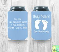 ready set baby personalized koozies baby shower by mintandlemon