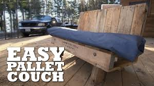 Patio Furniture Out Of Wood Pallets by Building Pallet Furniture For The Outdoor Man Cave Youtube