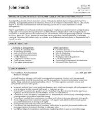 resume examples assistant manager resume template sample