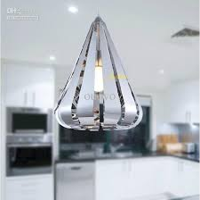 pendant lamp stainless steel water drop pendant light new modern