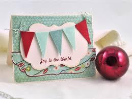 handmade holiday card with colorful felt pennants hgtv