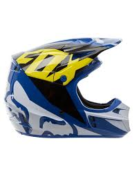 motocross helmet visor fox blue 2018 v1 race mx helmet fox freestylextreme america