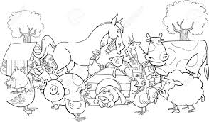 photo cartoon illustration of web photo gallery farm animals