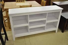 carson horizontal bookcase with adjustable shelves u2013 white
