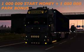 1 000 000 start money 1 000 000 park bonus 1 27 ets 2 mods
