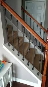 Iron Banister Spindles How To Replace Wood Stair Spindles Or Balusters With Wrought Iron