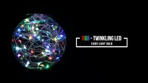 rgb twinkling led light bulb