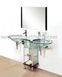 Crackle Glass Bathroom Accessories by Wonderful Glass Bathroom Vanity Glass Bathroom Vanity Amazing