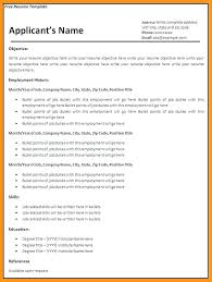 ms word format resume sample 87 captivating blank resume template