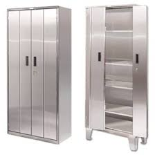 Stainless Steel Storage Cabinets Hungrylikekevincom - Stainless steel kitchen storage cabinets