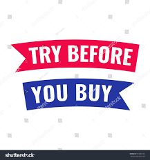 buy ribbon try before you buy ribbon icon stock vector 513885106