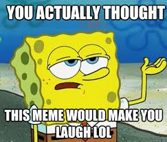 Memes To Make You Laugh - you actually thought this meme would make you laugh lol how