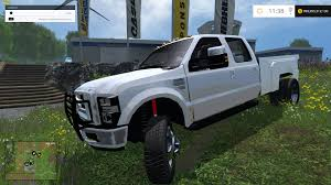 Ford Diesel Truck Tires - f350 ford diesel pickup white ls15 farming simulator 2017 2015