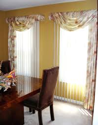 dining room curtain designs swag curtains for dining room theamphletts com