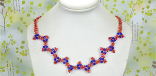 beaded necklace with seed images How to make elegant wavy necklaces with seed beads at home jpg