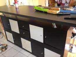 faire sa cuisine chez ikea table de bar avec kallax bidouilles ikea