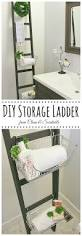 Diy Ladder Shelf Shelves Tutorials by Diy Storage Ladder Clean And Scentsible