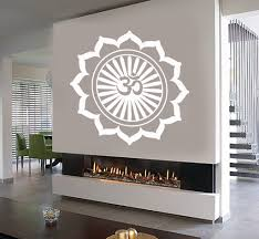 Wall Decals Vinyl Sticker Mandala by Vinyl Decal Mandala Lotus Mantra Yoga Studio Om Hinduism Wall