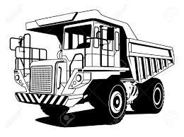 dump truck hand draw illustration royalty free cliparts vectors