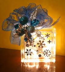 Christmas Decorations Glass Blocks Lookie what i did christmas