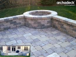 Backyard Stone Fire Pit by Stone Fire Pit Built Into Patio Wall Patios U0026 Fire Pits