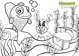 win a robofish by colouring in howard the fish u0026 easter bunny