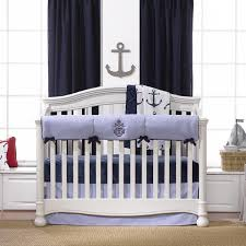 Nautical Crib Bedding Nautical Bumperless Crib Bedding Liz And Roo