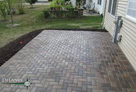 Concrete Patio With Pavers Crest Hill Brick Paver Patio Crest Hill Contractor Delaney