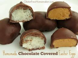 chocolate covered easter egg candy gluten free homemaker