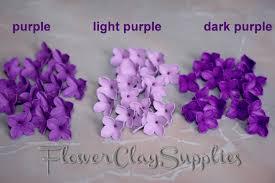 20 pcs lilac flowers polymer clay lilac purple shades lilac