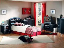 Curtains For Dark Blue Walls Black Red Bedroom Decor Wooden Paneled Wall Platform Bed With