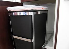 simplehuman in cabinet trash can dog proof trash can guidance no trash can no trash can