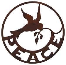 peace u201d sign wall garden art traditional outdoor wall art by