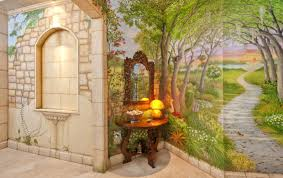 mural garden murals trendy simple garden murals u201a favorable wall