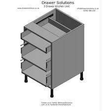 3 drawer kitchen cabinet drawer kitchen base unit 570mm deep x 720mm high x 500mm wide