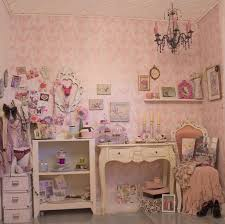 Vintage Bedroom Ideas Adorable Pink White Color Scheme Patterned Varnished Wooden Floor