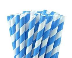 paper straws 25 paper straws baby blue stripes 7 75 retro