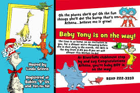 dr seuss invitations dr seuss event baby shower invitations